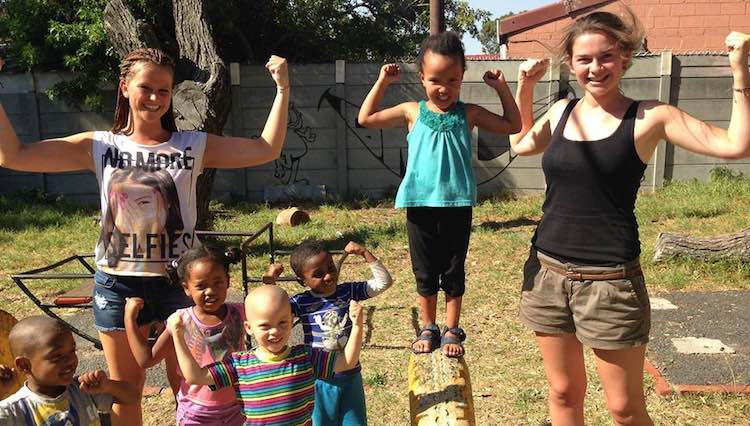 Natalie-Wiechel-with African kids-submitted-volunteering solutions SA