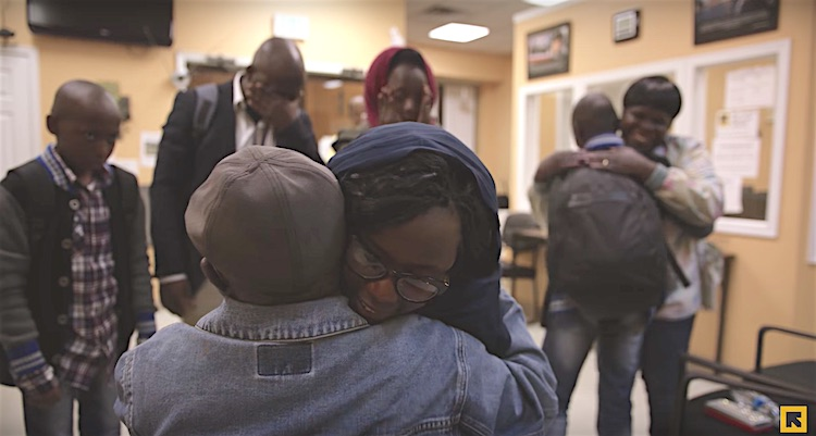 Sudan family reunited screenshot IRC