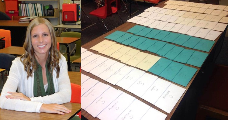 Teacher writes letters released Brittni Darras