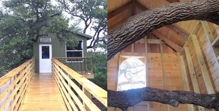 7 Year Old Gets Dream Wheelchair Accessible Tree House