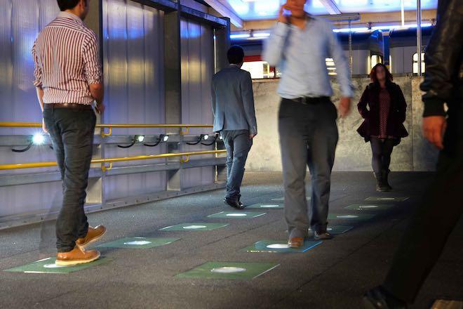 floor tiles to energy-released-pavegen