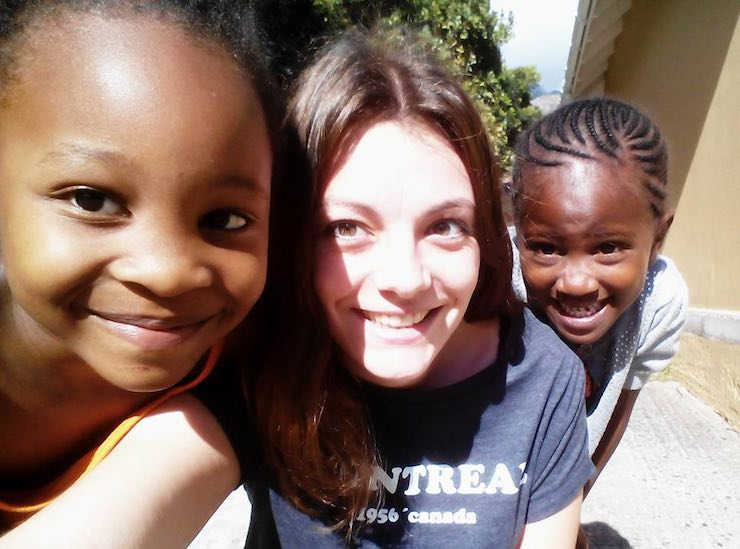white girl with African kids-submitted-volunteering solutions SA