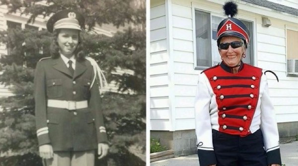 80yo-in band uniform like youth-familyphoto