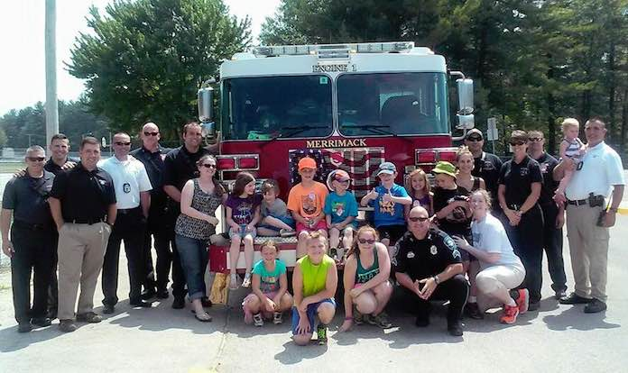 Autistic Boy Police Firefighter Playdate FB Merrimack PD
