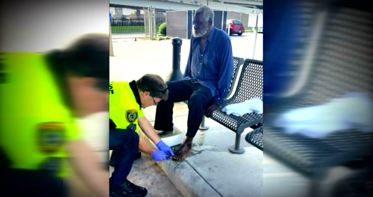 Cop Washes Homeless Man's Feet screenshot Inside Edition