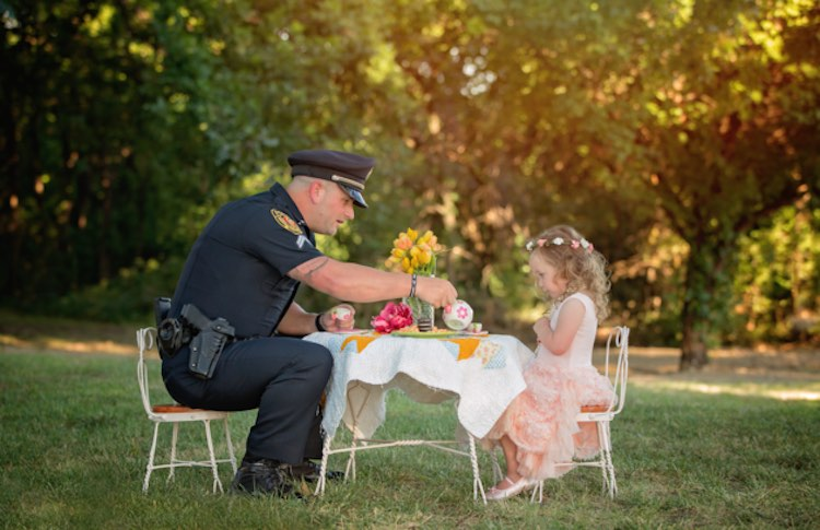 Cop with Girl-Chelle Cates Photography