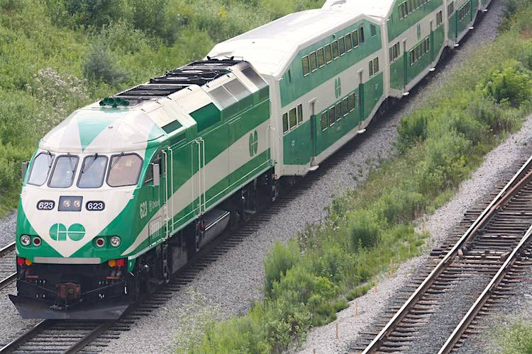 GO Transit train CC Danielle Scott