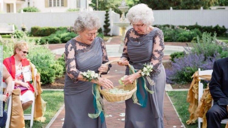 Grandmother Flower Girls Courtesy Ashley Elizabeth Photography