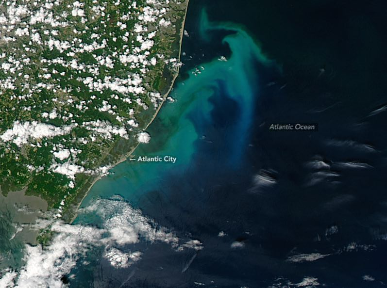 Jersey shore blue water satellite-NASA
