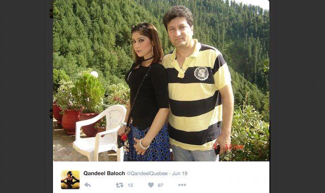 Qandeel Baloch-twitter page-screenshot