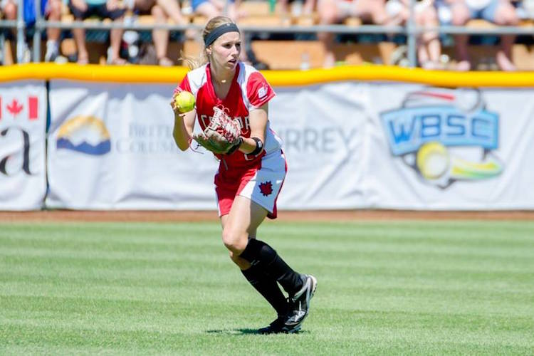 Softball Player FB World Softball Championship