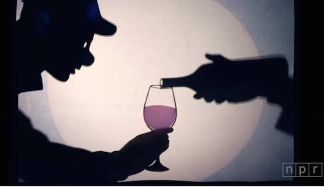 pouring wine puppet sillouette- Manual Cinema:NPR-YouTube