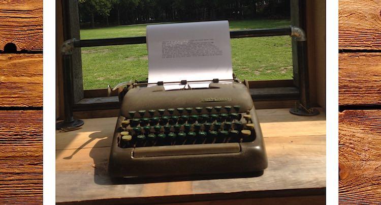 typewriter in window-typewriter project