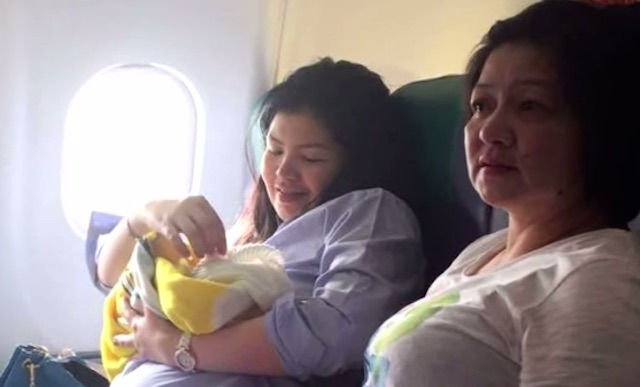 baby born on airplane free flights for life