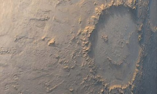Happy Face crater smiles on Mars -NASA