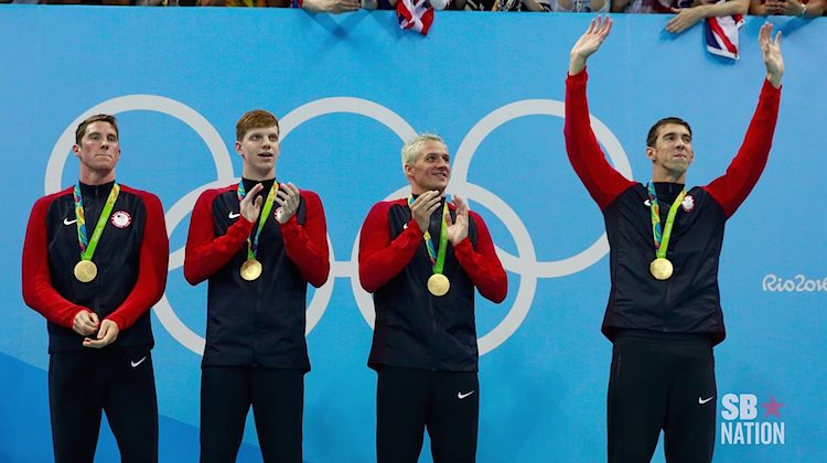 Michael Phelps Wins 20th Gold - YouTube