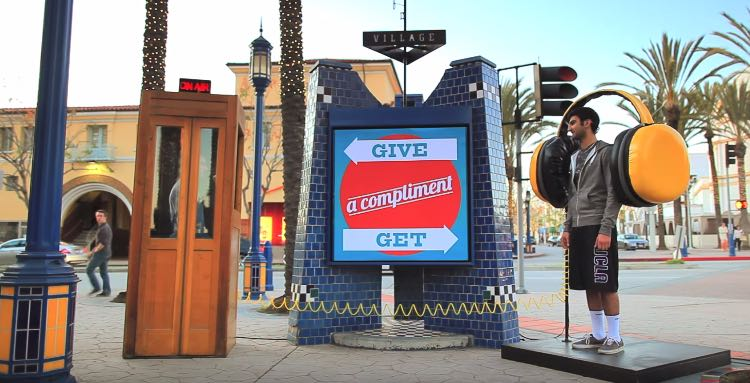Street Compliment Booth-Youtube
