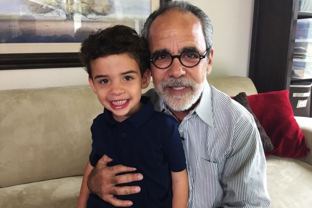 grandfather howard Broadman with grandson-UCLA Health