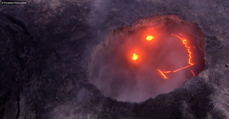 "Kilauea volcano's ""smiley face."""
