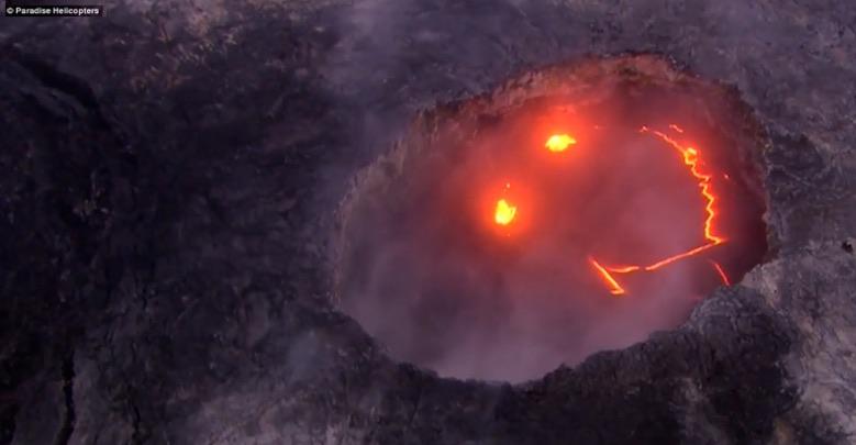 "Kilauea volcano's ""smiley face."""