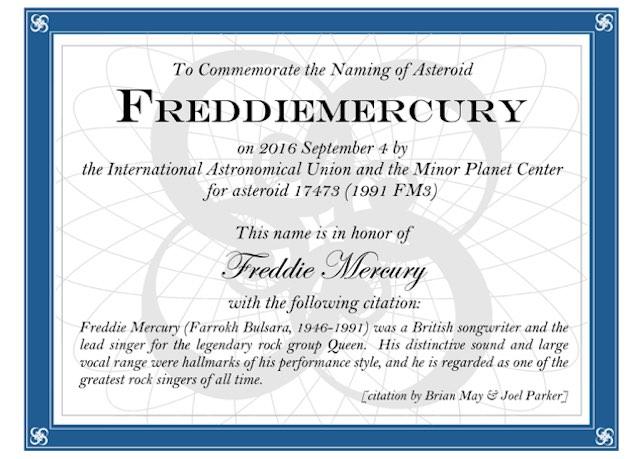 Freddie Mercury Certificate-Facebook