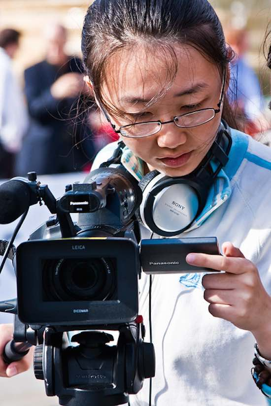 young camerawoman