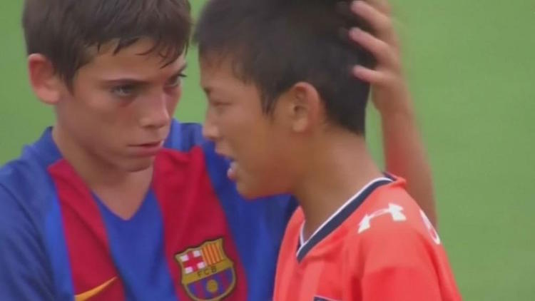 Watch the Barcelona Youth Soccer Team Console the Losing ...