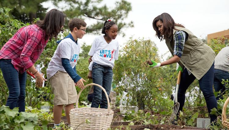 Sweetest Moments From the Obama Years In Photos (2009-2017) Michelle-Obama-in-garden-WH-Photo