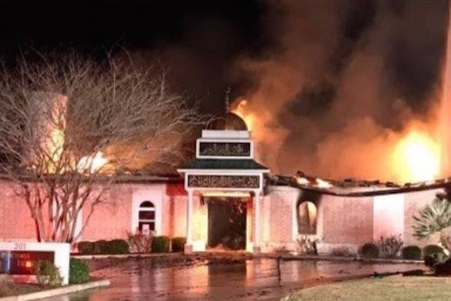 Burning Mosque-Facebook
