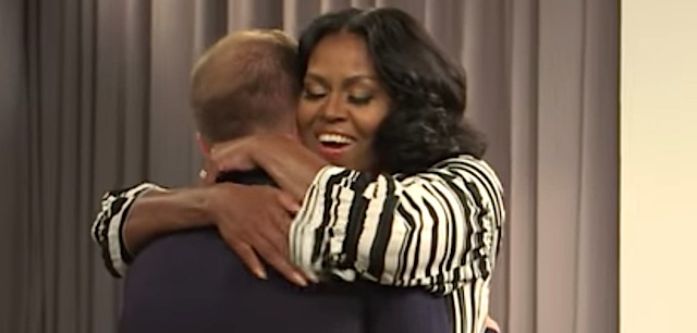 Michelle Obama surprises Fallon guest