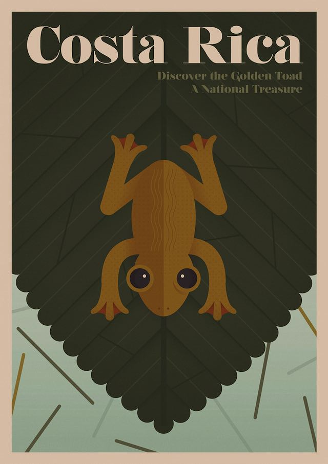 Golden Toad Poster-Unknown Tourism