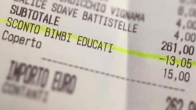 Italian Child Discount Receipt-Facebook