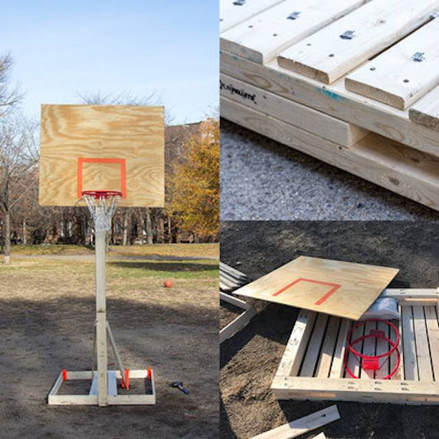 Pallet Basketball Net-Submitted