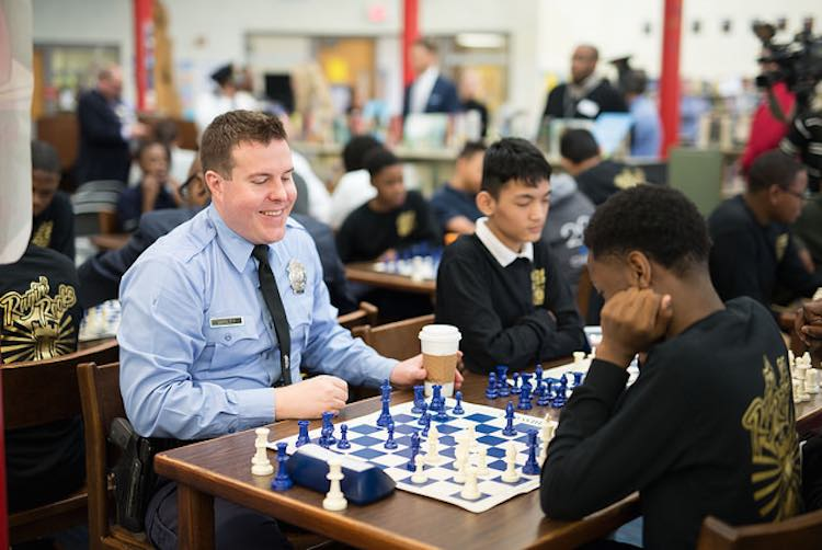 Police Playing Chess-Austin Fuller