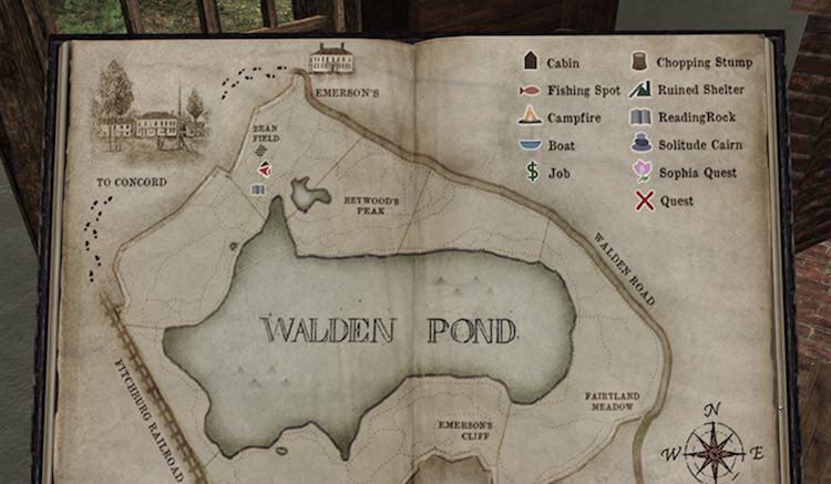 Walden Pond Game map