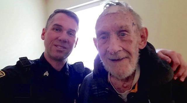 Sergeant Jon Sterling befriends vet-family photo