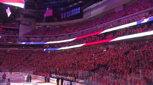 Canadian Crowd Belts Out U S  National Anthem When Mic Fails