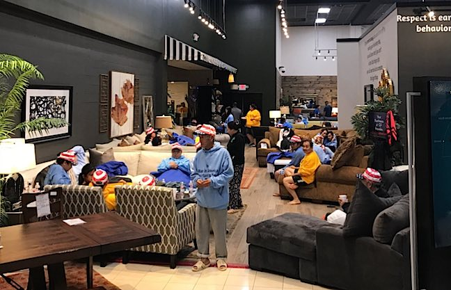 Houston Furniture Store Invites Flood Victims and Pets to Shelter
