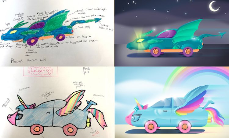 Adorable Kids Asked To Design Cars Of The Future Demand Rainbow