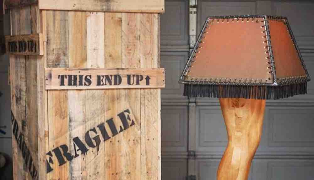 This Manly Leg Lamp Homage to 'A Christmas Story' Deserves a Major Award