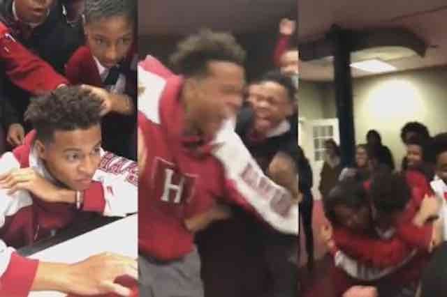 Video Shows Teen, Classmates Explode With Joy Over Harvard Acceptance