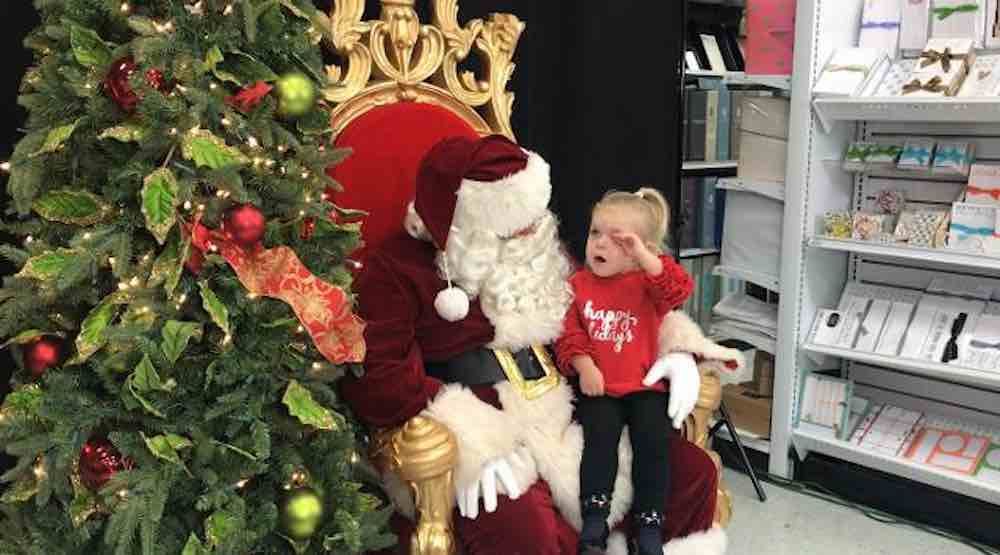 Sleepy 2-Year-old Asks Santa for the Simplest Gift Imaginable