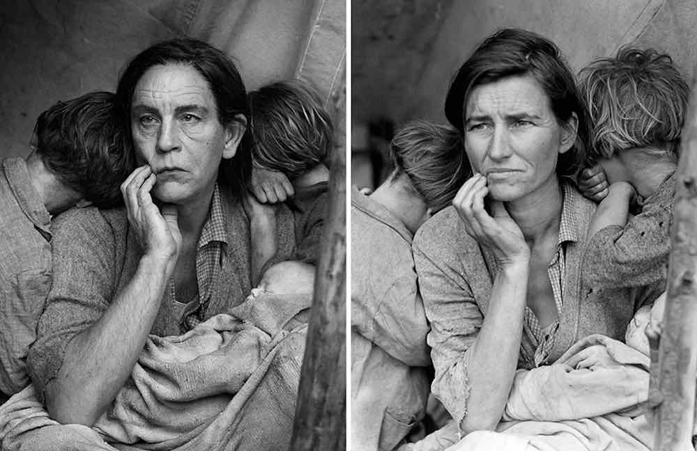 Famous Photos Recreated With John Malkovich Modeling as the Subject
