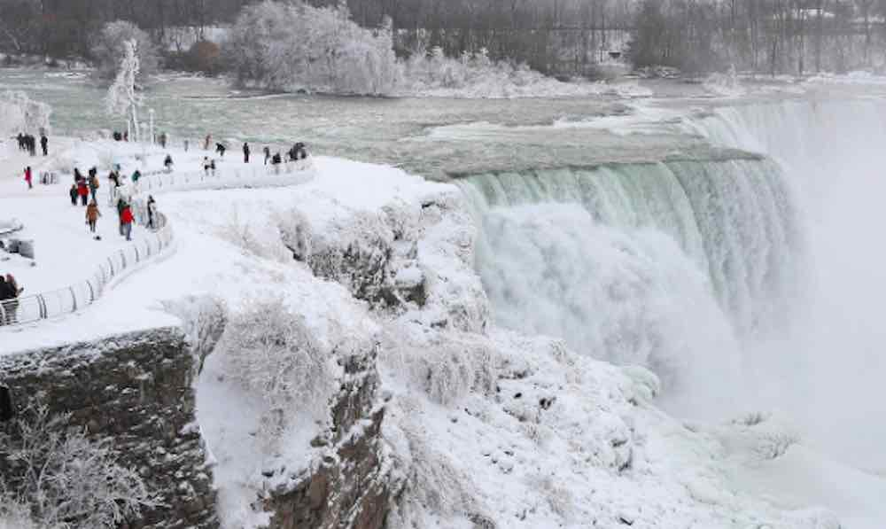 Freezing temperatures transform Niagara Falls into a winter wonderland