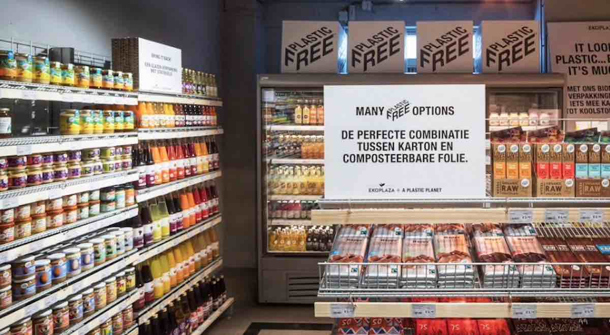 Amsterdam supermarket launches 'world's first' plastic-free aisle