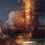 ship burning uss philadelphia