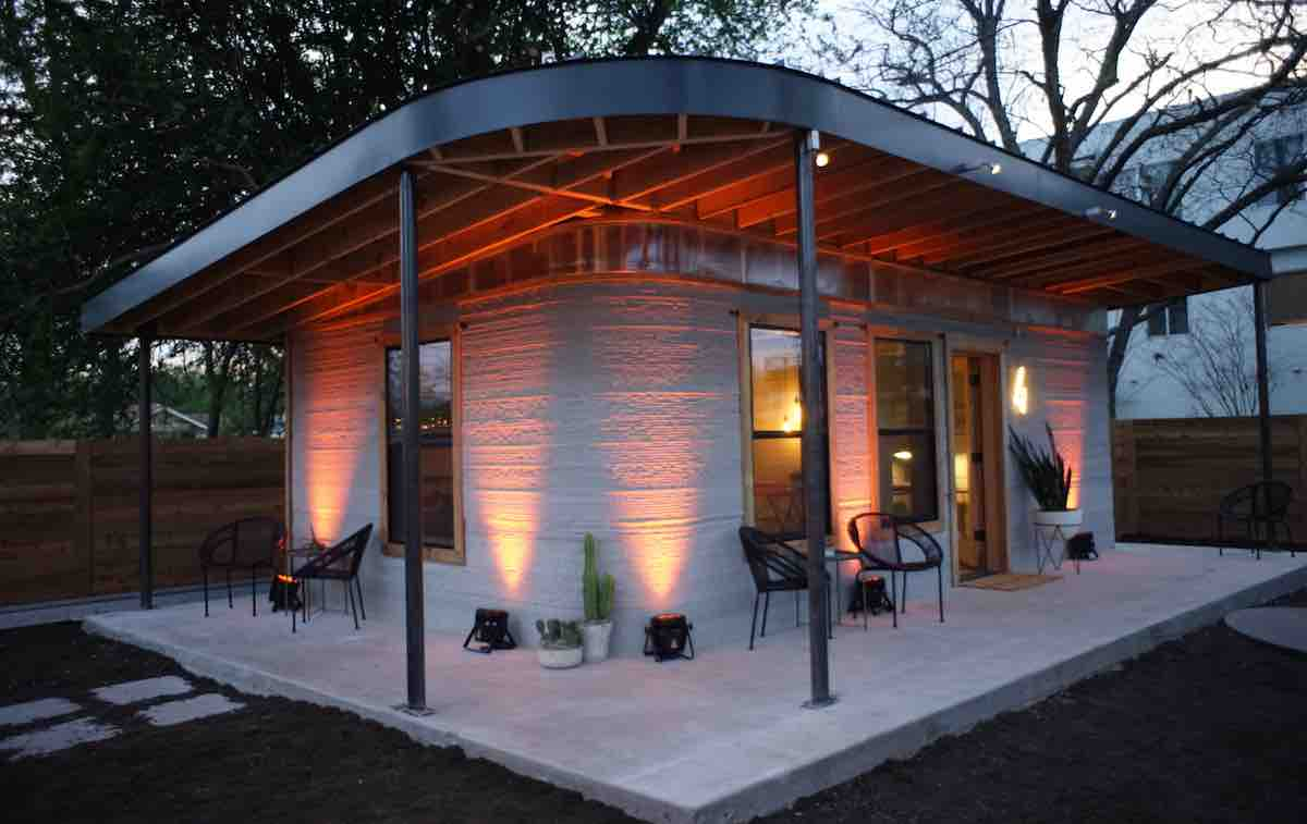 America 39 s first permitted 3d printed house was built in for How to become a home builder in texas