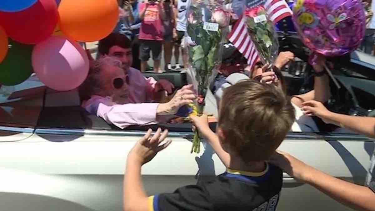 Her 107th Birthday Wish Was to Participate in a Parade, So