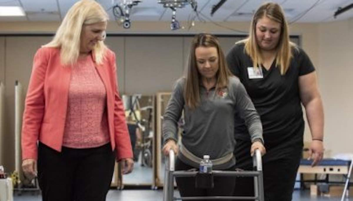 Electrode treatment, physical therapy combination lets two paralyzed people walk again