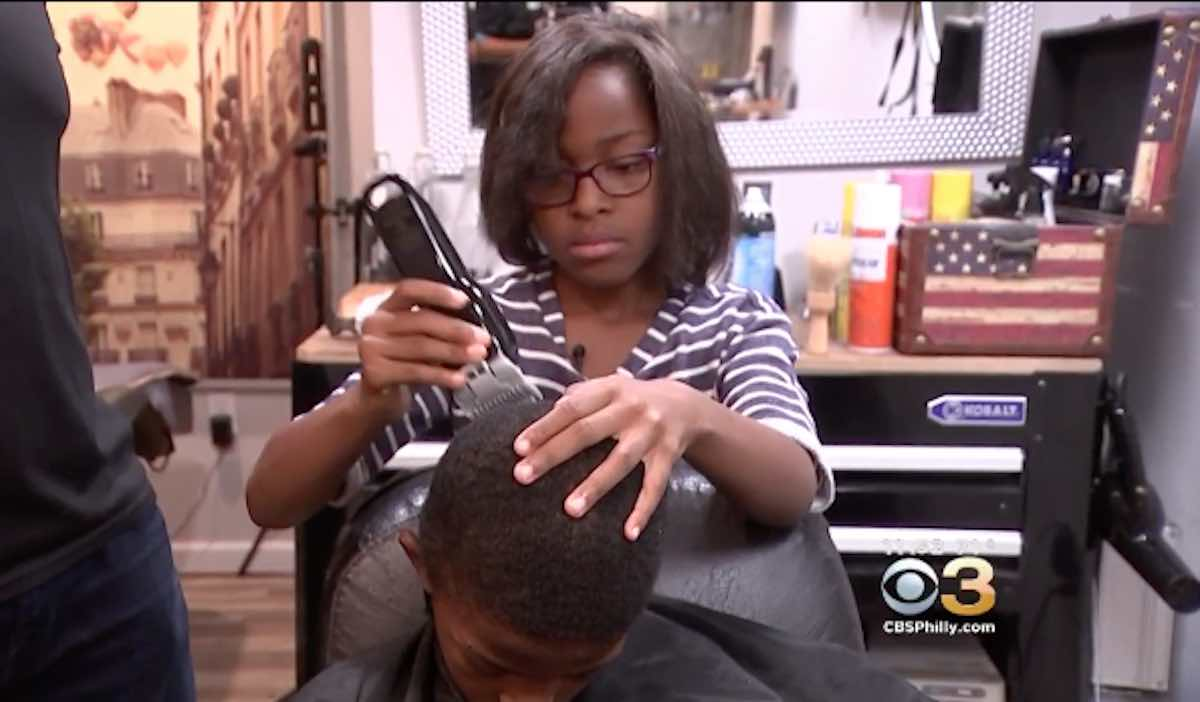 7 Year Old Becomes Certified Barber So She Can Offer Free Haircuts
